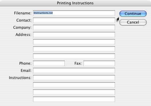 InDesign Package document: Step 2