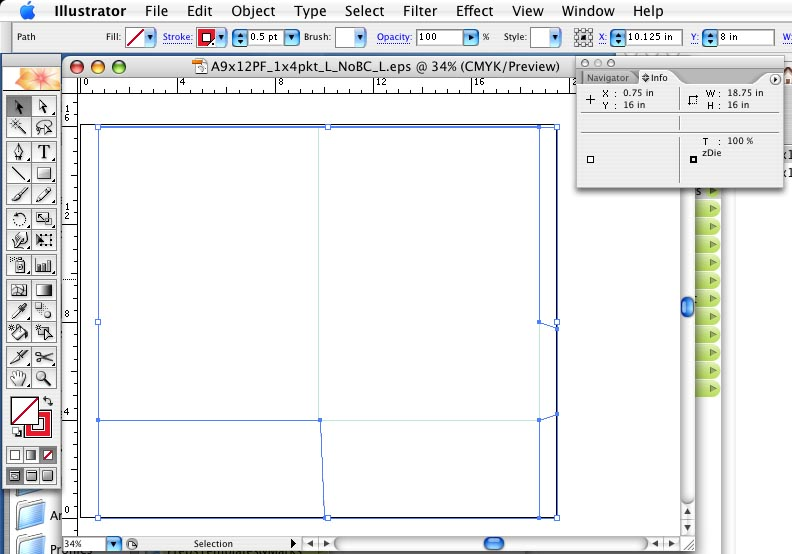How to build a presentation pocket folder by using our pdf for Pocket folder template illustrator