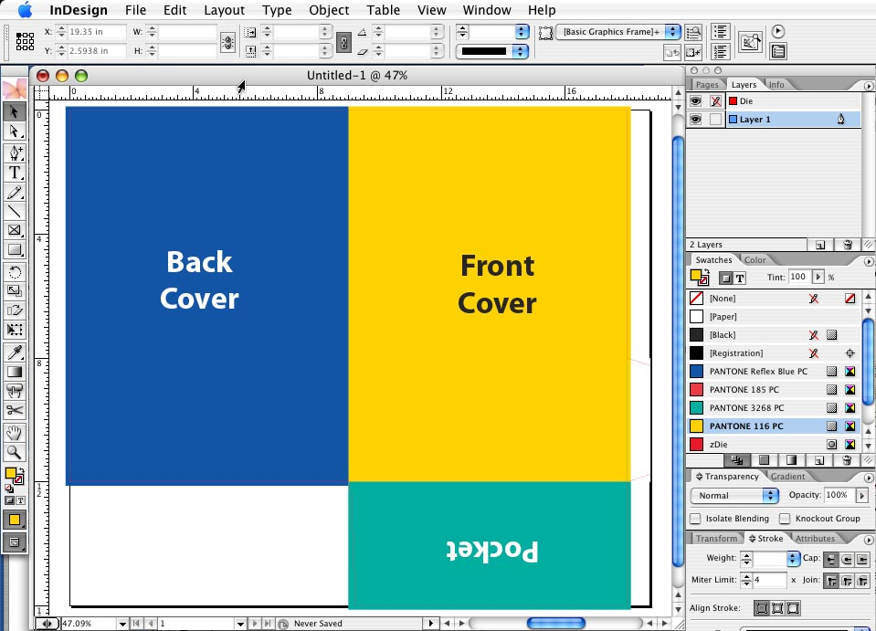 How to Build a Presentation Pocket Folder by Using Our PDF or EPS ...