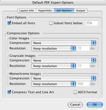 Quark Export Layout as PDF : Step 2